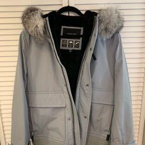 Men's Andrew Marc Fur Lined Coat